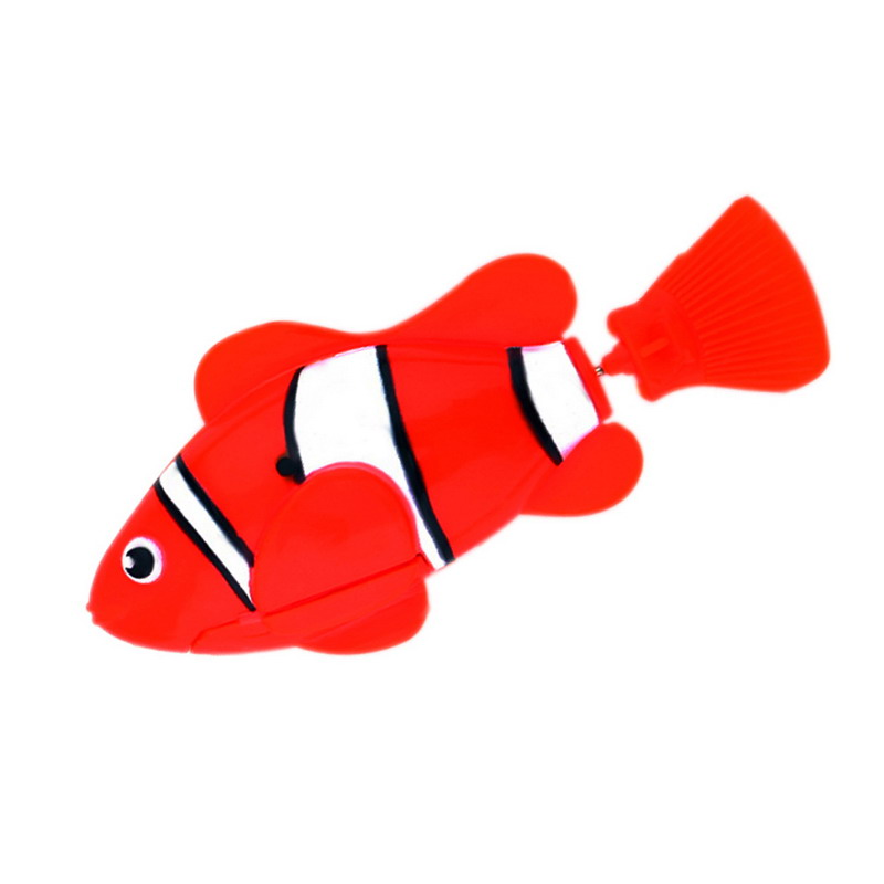 Free Shipping Robofish Activated Battery Powered Robo Fish Toy fish Robotic Pet Cat Favorite Fish Tank Aquarium Ornament Decor(China (Mainland))