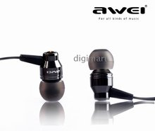 Super Base In-ear Headphone Noise isolating Earphones AWEI ES800M 3.5MM Earbud(China (Mainland))
