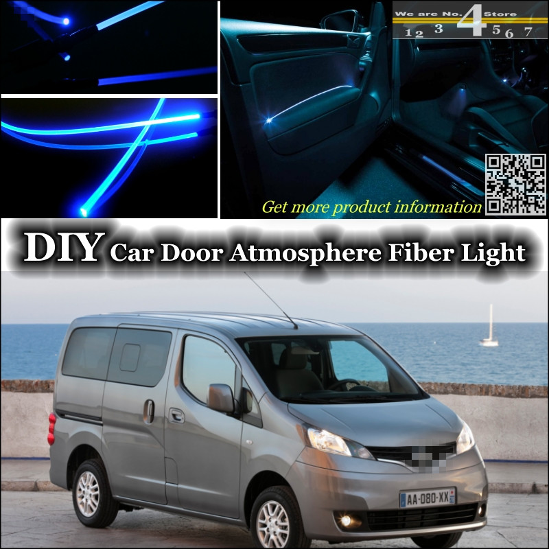 interior Ambient Light Tuning Atmosphere Fiber Optic Band Lights For Nissan Evalia NV200 Vanette For Chevrolet City Express<br><br>Aliexpress
