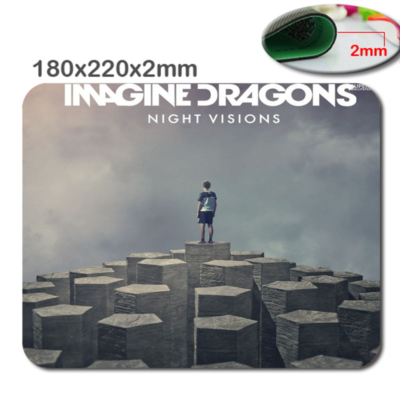 custom printing quality Imagine Dragons - Night Visions Anti-Slip Laptop PC Mice Pad Mat for Optical Laser Mouse Drop Shipping(China (Mainland))
