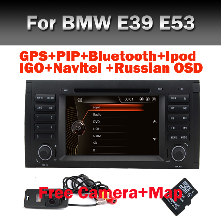 Factory Price Car DVD for BMW E53 E39 E53 X5 With GPS Bluetooth Radio RDS USB IPOD Steering wheel Control Canbus Free Map(China (Mainland))