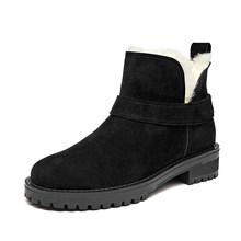 BeauToday Frauen Schnee Stiefel Aus Echtem Leder Runde Kappe Plattform Top Marke Weibliche Winter Wolle Stiefeletten Handmade 03280(China)