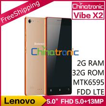 "Original Lenovo VIBE X2 Mobile Phone MTK6595 Octa Core 4G FDD LTE Dual-SIM Multi-language 5.0""FHD 2G RAM+32GB ROM 5.0+13.0MP(China (Mainland))"