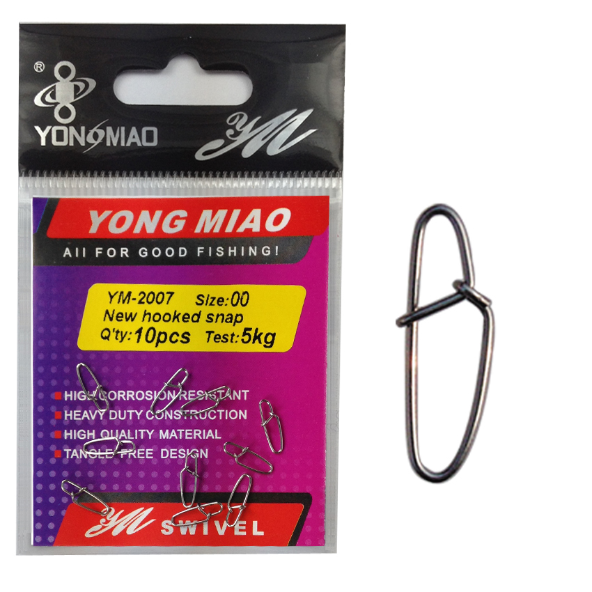 YM-2007 10bags Great quality New hooked snap fishing tackle accessories Test from 4kg to 70kg(China (Mainland))