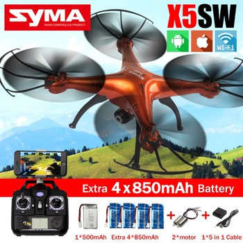 Syma X5SW FPV дрон Quadcopter с hd-wifi камеры дрон 2.4 г 6-Axis дроны вертолет с 5 + 2 двигатель + 5in1 кабель