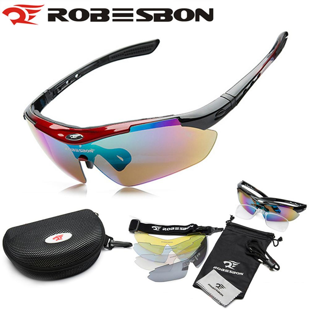 ROBESBON Outdoor Sports MTB Road Mountain Cycling Riding Bicycle Bike UV400 Sun Glasses Eyewear Goggles 5 lens Free Shipping(China (Mainland))