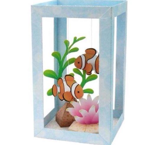 Сделать аквариум из бумаги своими руками