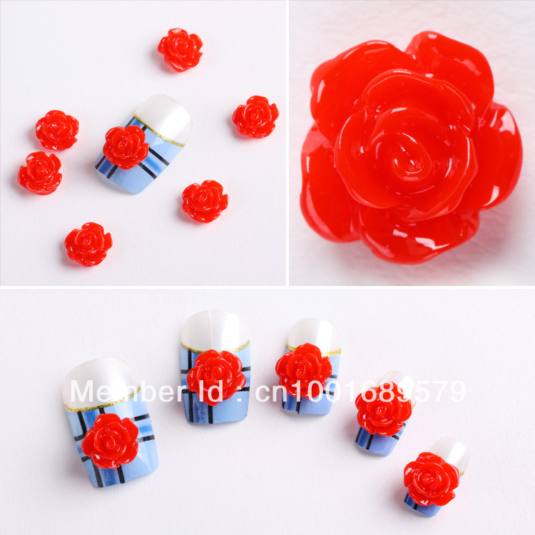 Gift / Nails Supply, 103D Plastic Red Roses DIY Acrylic Design/ Art, Unique Gifts - Hill Chow's store