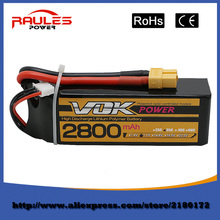 Free Shipping Lipo Battery 11.1V 2800Mah 3S 35C XT60 For RC Helicopter Qudcopter Drone Truck Car Boat Bateria Lipo