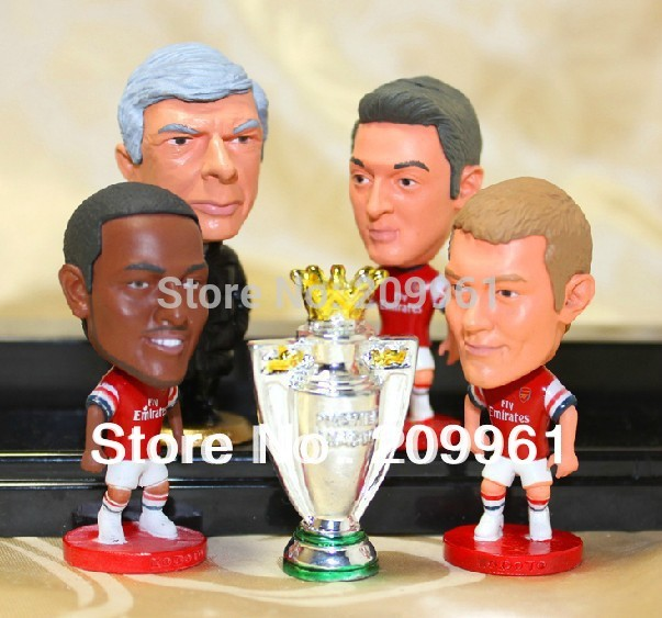 4pcs/set Arsenal football soccer player star collection doll cartoon toys Wenger CECH WILSHERE WALCOTT(China (Mainland))