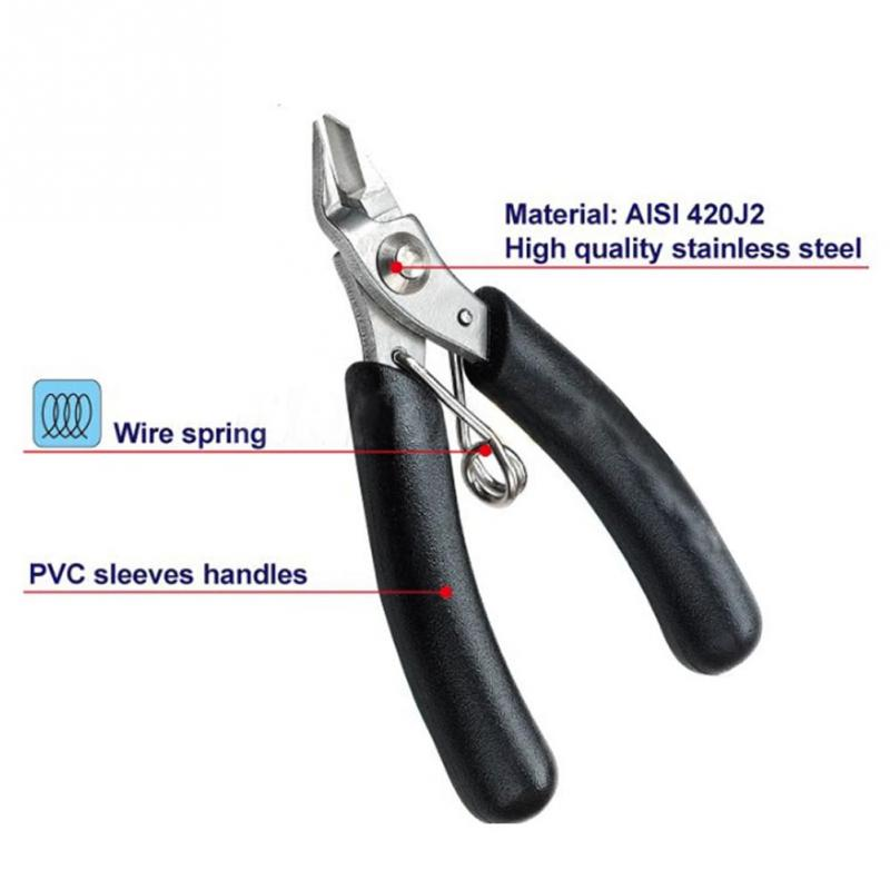 Electrical Micro Cutting Plier Wire Cable Cutter Side Snips Flush Pliers Tool(China (Mainland))