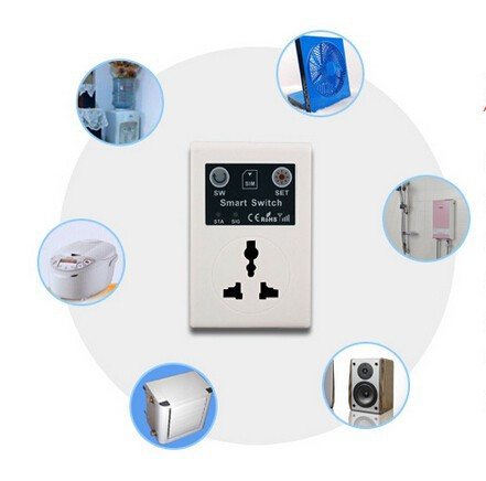 SC1-GSM Cellphone Phone PDA GSM RC Remote Control Socket Power Smart Switch interruptor switches(China (Mainland))