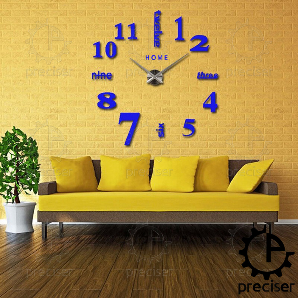 Wholesale Home English Letters Arabic Digital Wall Clock Modern Home ...