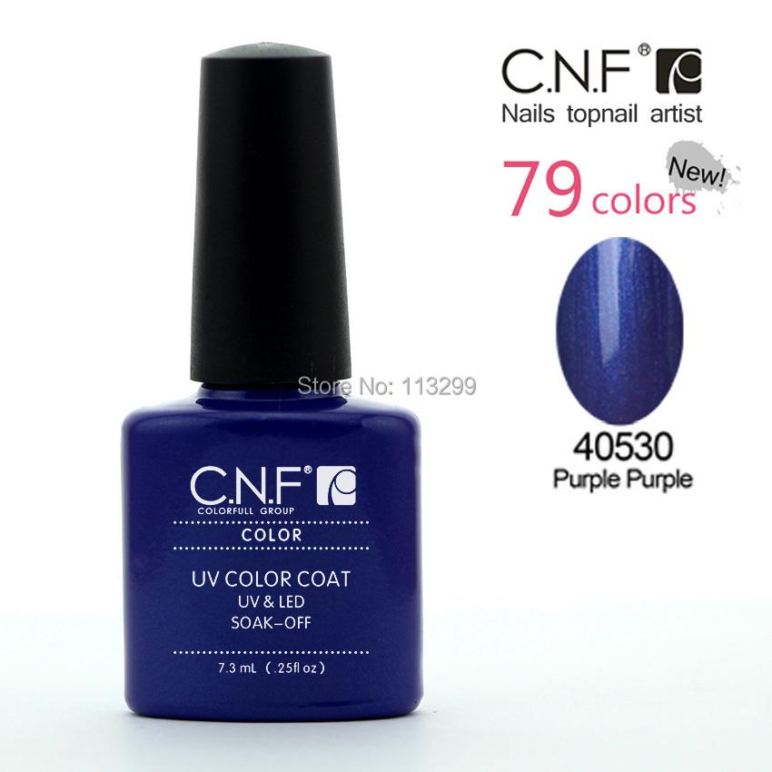 NC40530 Purple Purple 6pcs/lot CNF UV/LED saok off uv nail gel polish 79 color long lasting nail varnish gel lacquer glue set(China (Mainland))