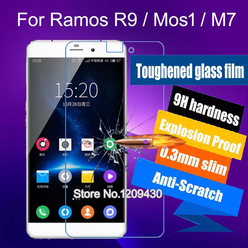 10pcs Explosion Proof Screen Protector Tempered glass Film 9H 2.5D For Ramos R9 Mos1 M7 Screen Protective Film(China (Mainland))