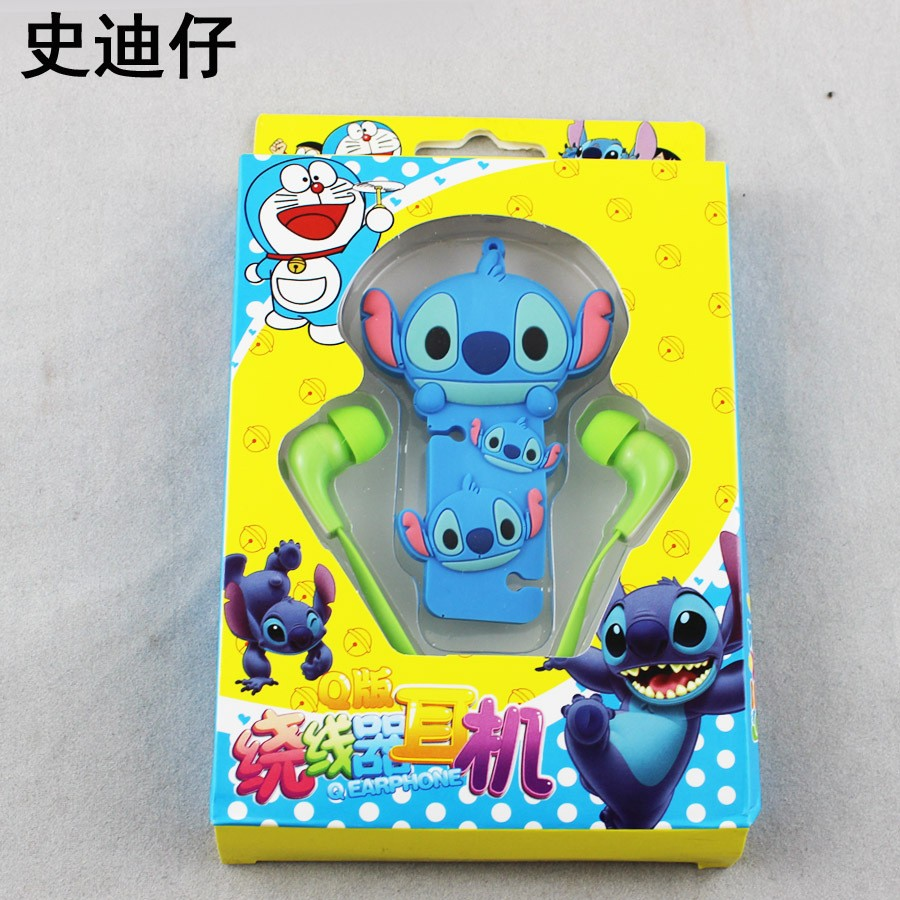 2 in 1 Mini in-ear 3.5mm Earphone headphone with Cartoon Cable winder Cable Organizer For Samsung Android Mobile Phone