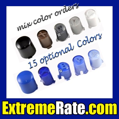 Gradient ABXY Guide Buttons For XBOX 360 Controller Repair Kits 15 Optional Colors + Free Shipping(China (Mainland))