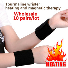 10 pairs/lot wrist brace wrist massager cervical vertebra Protection Spontaneous Heating tourmaline Belt