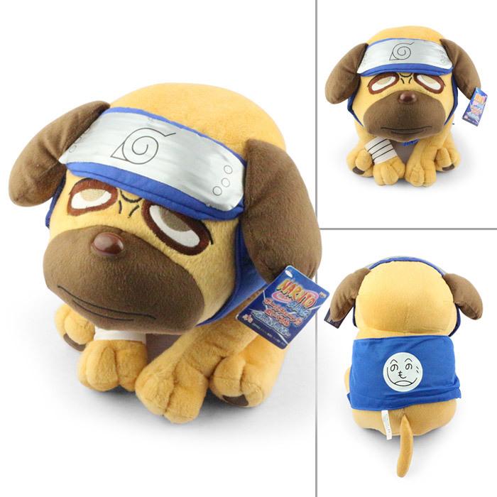 Free Shipping high quality 40cm Japanese Anime Cartoon Naruto Kakashi Pakkun Dog Plush Toy(China (Mainland))