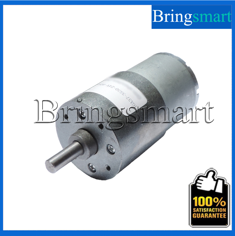 Wholesale JGA37-3530 6-666rpm Low rpm Electric Motors 6V 12V 24V DC Motor High Torque Gear Motor(China (Mainland))