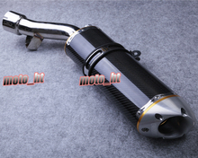 Carbon fiber & Stainless steel Exhaust Muffler Silencer For Yamaha 2006 2007 2008 2009 2010 2011 FZ1, Spare Parts(China (Mainland))