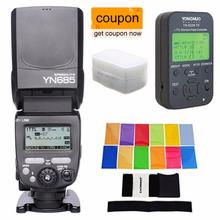 Buy YONGNUO i-TTL Speedlite YN685 (YN-568EX Upgraded Version) Flash Nikon DSLR + YN622N-TX + EACHSHOT Filter + Diffuser for $141.50 in AliExpress store