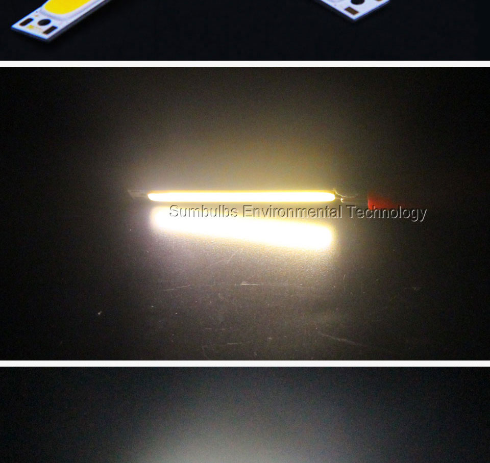 60x8mm 1W 3W red blue cold warm white COB strip LED light source LED beads lamp bar for DIY car work bicycle LED COB lights (10)