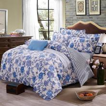 Home textile Autumn bedding set duvet cover queen bed sheet pastoral bedding nordic style flower printed bed linen bedclothe(China (Mainland))