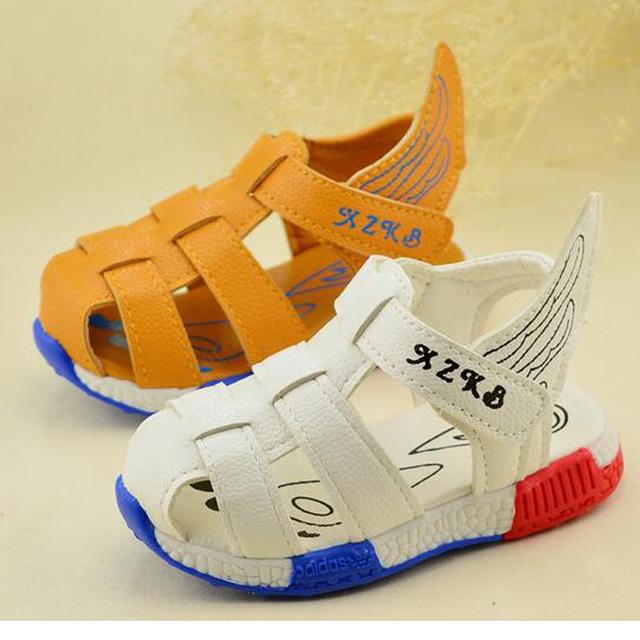 2016 Sandale гарсон лета детские сандалии мальчиков мода дети свободного покроя обувь ...
