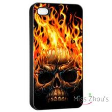 For iphone 4/4s 5/5s 5c SE 6/6s plus ipod touch 4/5/6 back skins mobile cellphone cases cover Dark Skull
