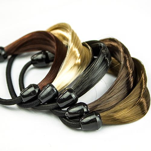 Fashion 2015 Wig Hair Ponytail Holders Plaits Hair Circle Manual Twist Rubber Band Headband Hairband 4VHD(China (Mainland))