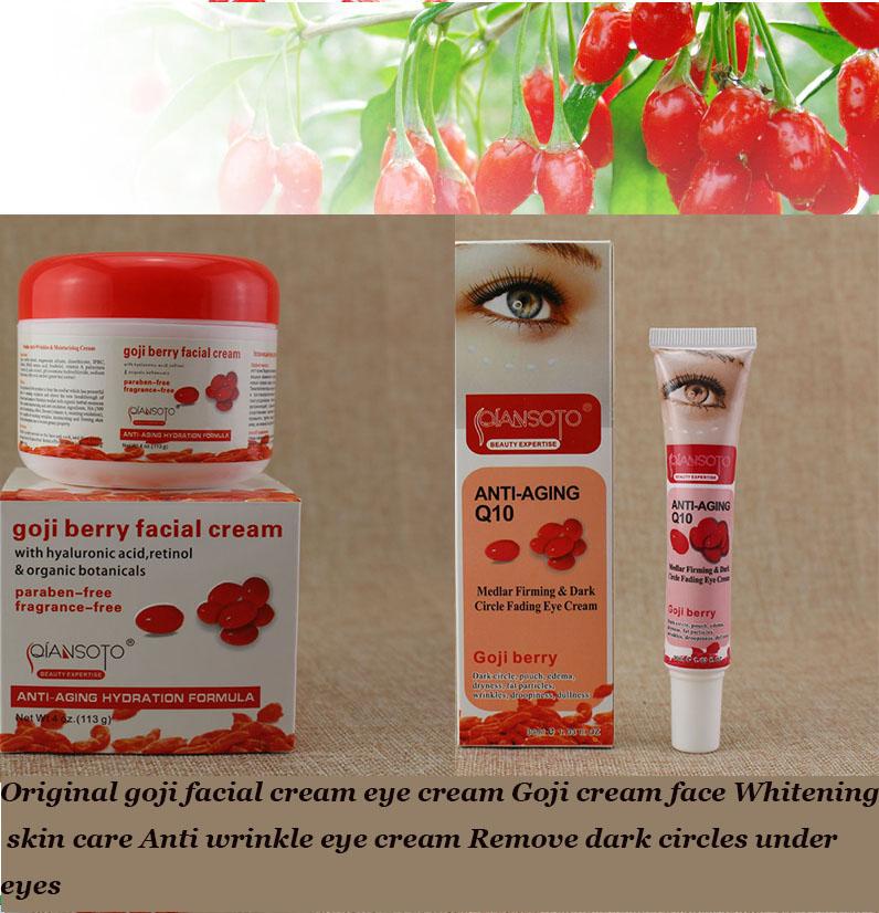 Original goji facial cream eye cream Goji cream face Whitening skin care Anti wrinkle eye cream Remove dark circles under eyes(China (Mainland))