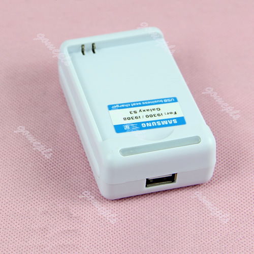 D19 Free Shipping New USB Seat Battery AC Wall Travel Charger For Samsung i9300 9308 Galaxy S3(China (Mainland))
