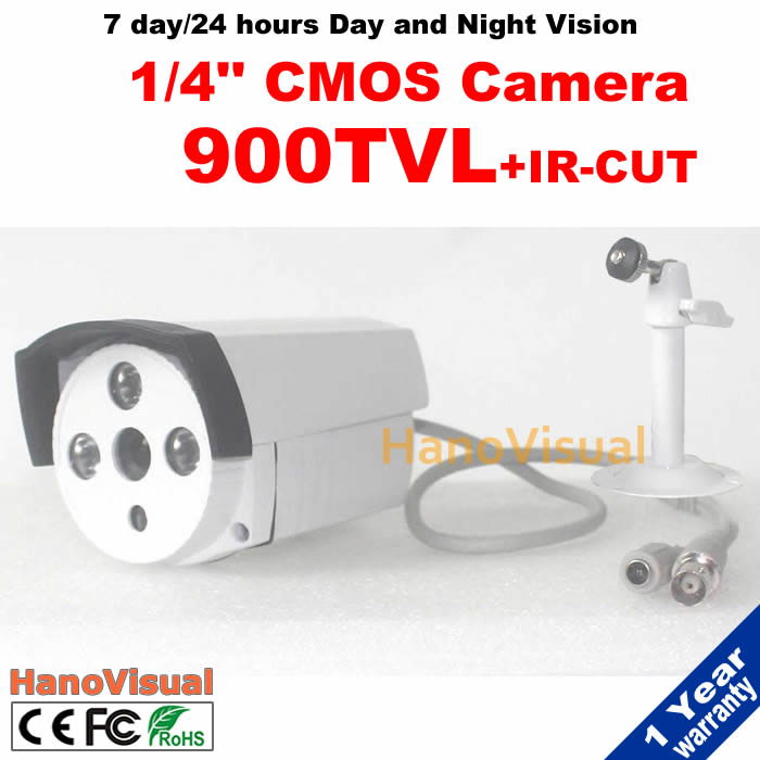 1/4 CMOS Sensor 900TVL CCTV Camera Outdoor Color Image Night Vision Waterproof IR Security Camera Free Braket With IRCUT Filter<br><br>Aliexpress