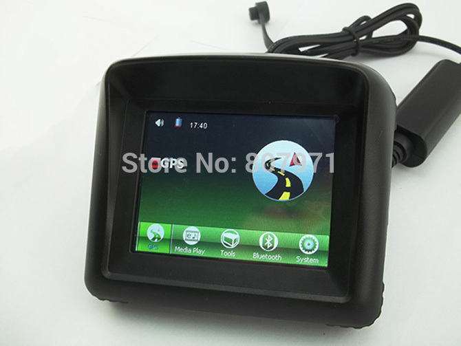 "3.5"" Touch screen waterproof Motorcycle GPS Navigation Moto GPS Navigator with 8G Flash bluetooth(China (Mainland))"