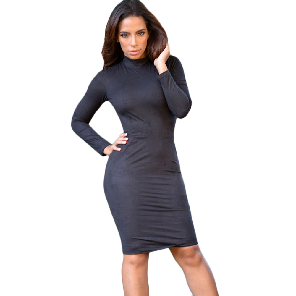 Long Sleeve Black Tight Dress | Dress images