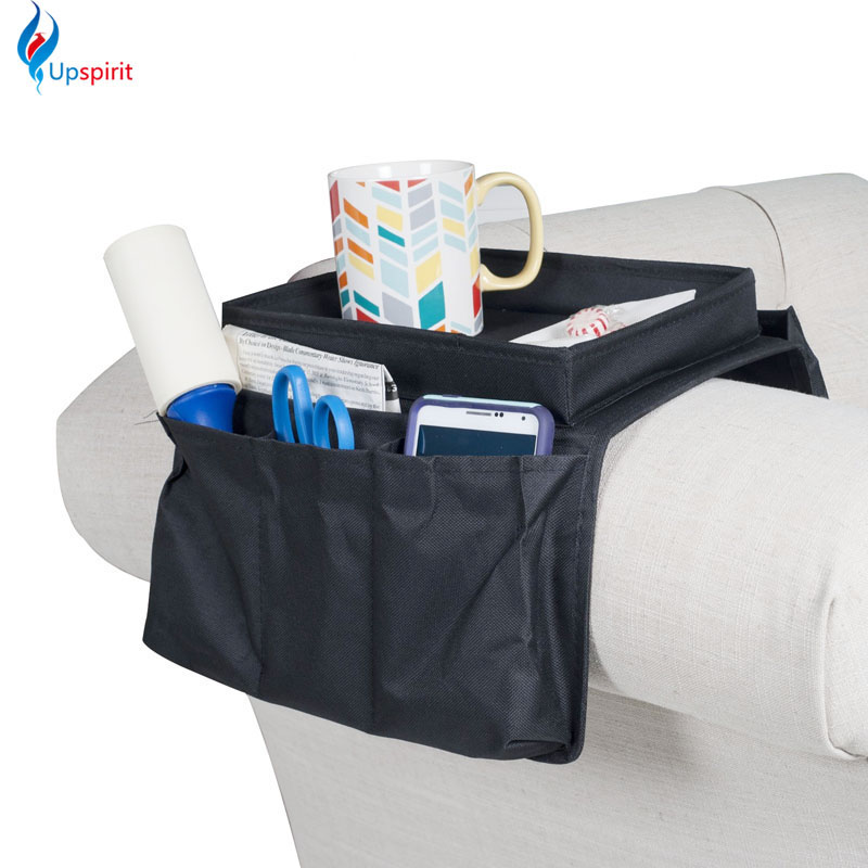 Watching TV Necessities! Foldable Oxford Cloth Sofa Side Storage Bag Pouch Hanging Bags Remote Control Cover Storage Organizer(China (Mainland))