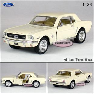 New Ford 1964 Mustang 1:36 Alloy Diecast Model Car White Toy Collection B1857
