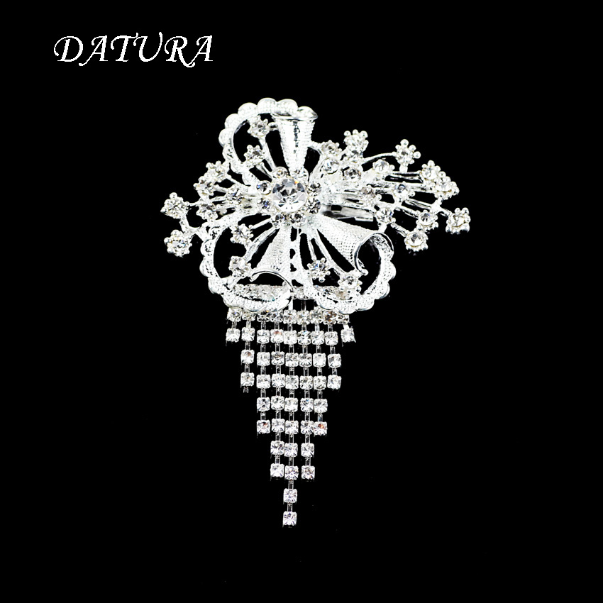 Wholesale Jewelry Supplier New Fashion Hot Selling Brooches Butterfly Korea Style CZ Wedding Bridal White Gold Plated(China (Mainland))