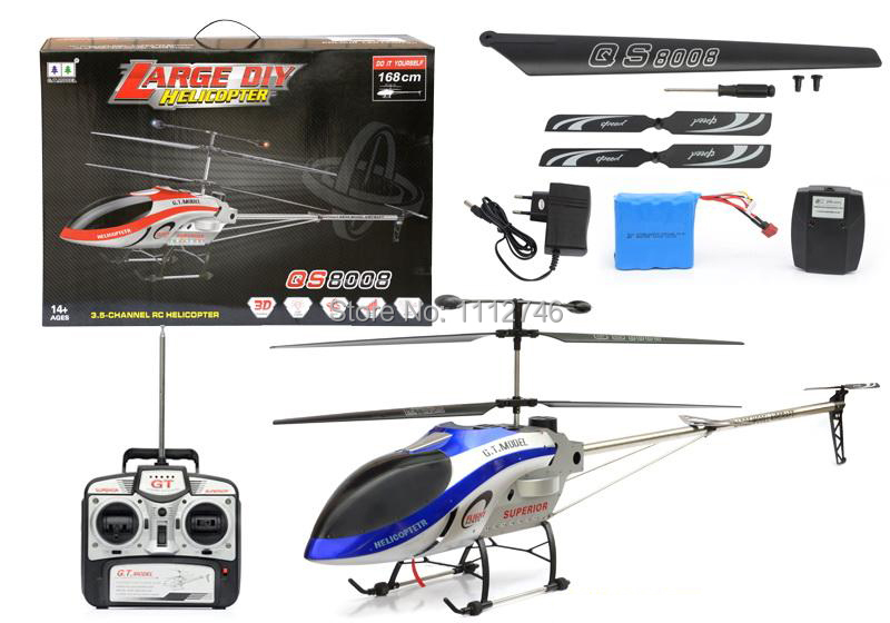 """Special For Russia Largest Hugest 66"""" 168CM 3.5CH GT QS8008 QS 8008 RTF Gyro Radio Remote Electric Control DIY RC Helicopter(China (Mainland))"""