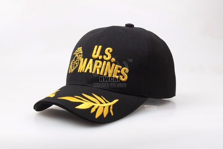 Al por mayor-2016 Tactical Marines Cap Hombres Gorra de béisbol EE. UU.  Ejército Negro Sombrero de agua Snapback Caps Para ajustable Navy Seal de  ... a54eb161818