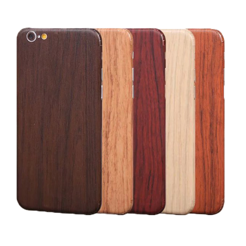 3D Wood Grain Skin Full Body Sticker Vinyl Wrap Decal Mobile stickers decorativos tocas decorations for Apple Iphone 6 6s(China (Mainland))