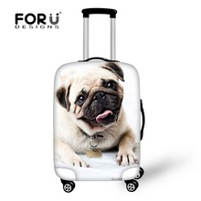 Brand Travel Luggage Protective Covers 3D Animal Pet Pug Dog Cover For 18-30 Inch Suitcase Elastic Luggage Cover Suitcases Cover(China (Mainland))