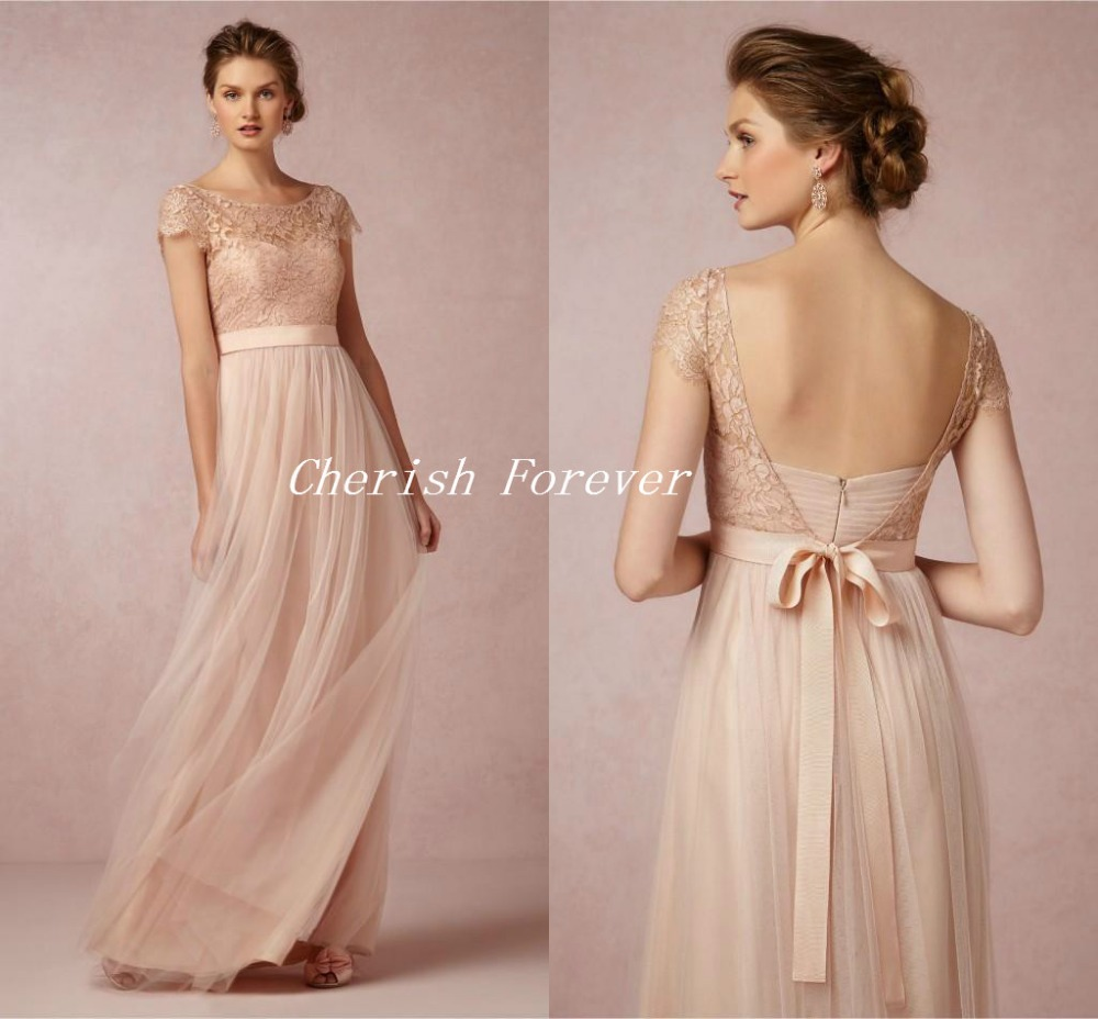 Blush Wedding Dress Bridesmaids : Aliexpress buy free shipping vintage lace