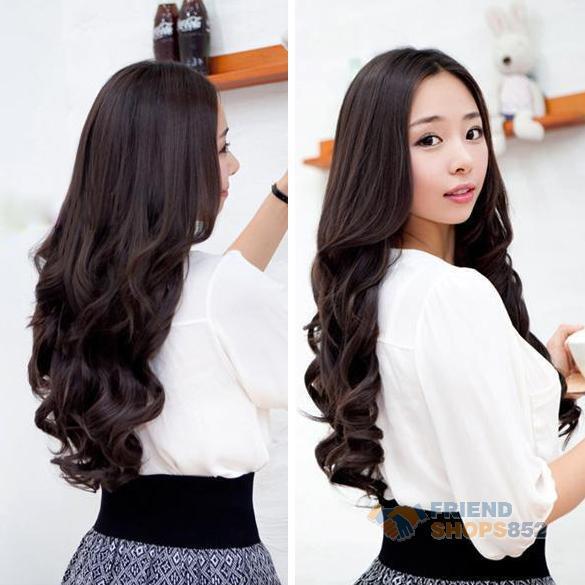 Гаджет  Dark Brown Width 25cm Lady Long Curl Wavy Clip-on Sexy Stylish Hair Extension CLSL None Волосы и аксессуары