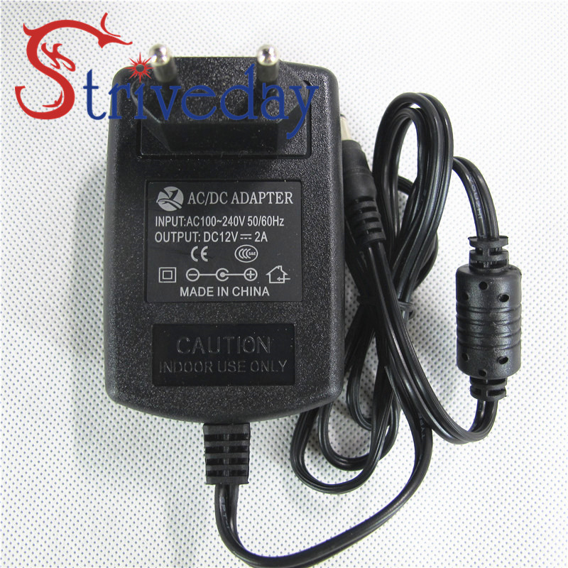 1Pcs High Efficient AC 100-240V to DC 12V 2A Adapter Switching Power Supply Charger For LED Strips Light EU Plug Free Shipping(China (Mainland))