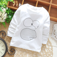 Baby Toddler Kids T-shirt Cotton Character  Print Long Sleeve Winter Bottoming Shirts for Height 65-90cm Age 6-24M Kids G009(China (Mainland))