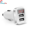 CinkeyPro LED Light EU Plug 2 Ports USB Charger 5V 2A Wall Adapter Mobile Phone Device Data Charging For iPhone 5 6 iPad Samsung