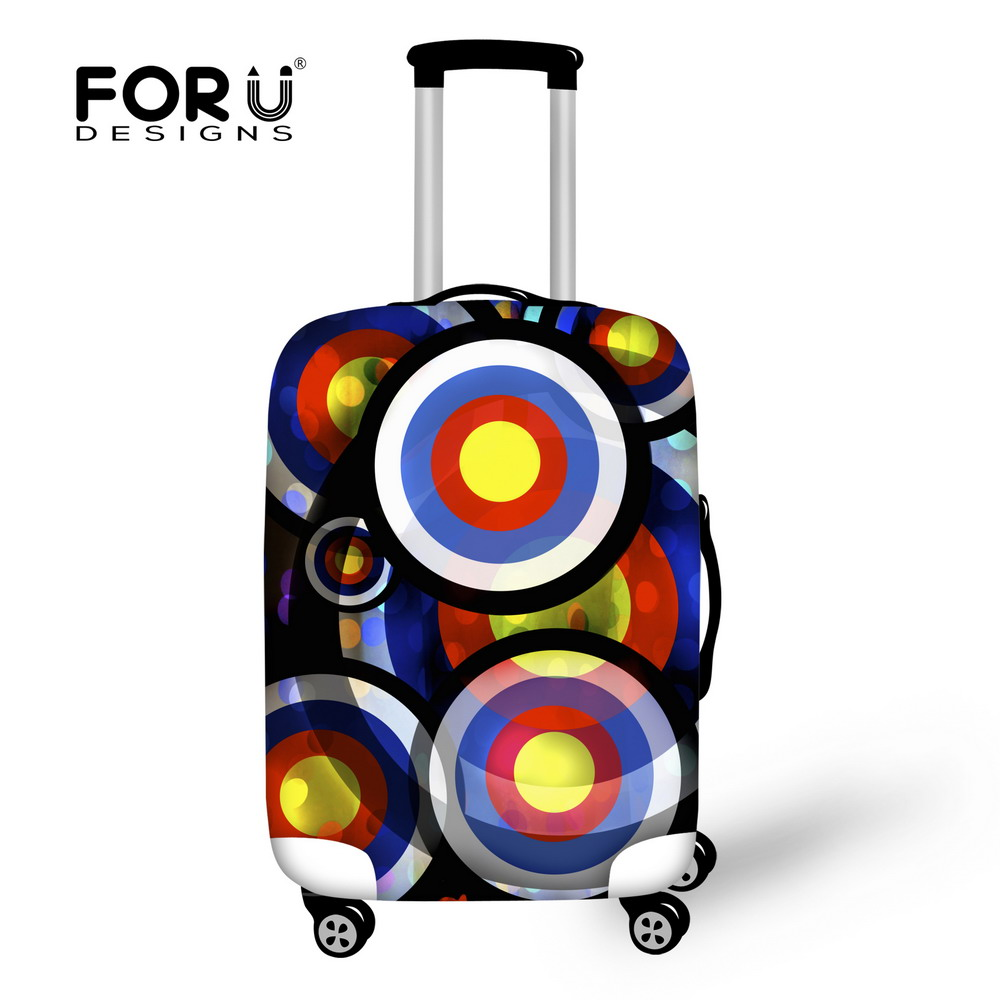 Famous Brand Outdoor Protect Luggage Covers for 18-30 inch Trolley Fashion Print Suitcase Covers Waterproof Travel Baggage Cover(China (Mainland))