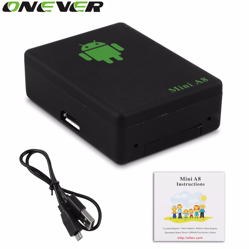 Onever LBS Tracker Mini A8 Tracker Global Real Time GSM Security Auto Tracking Device With SOS Button for Cars Kids Pets(China (Mainland))